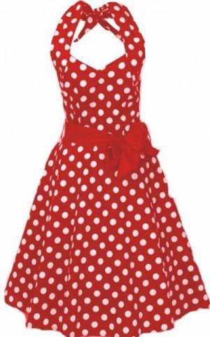 красное платье с белыми горошками от Vintage