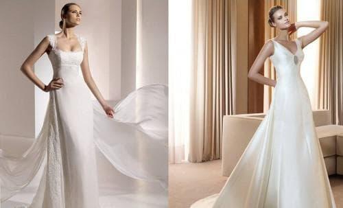 свадебное платье в форме прямоугольника