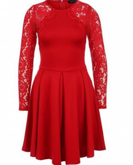 красное платье от Lost Ink
