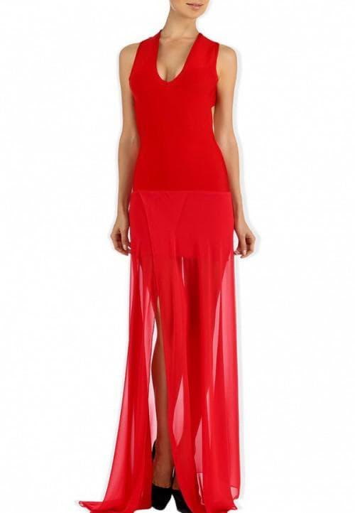 красное платье от Tutto Bene