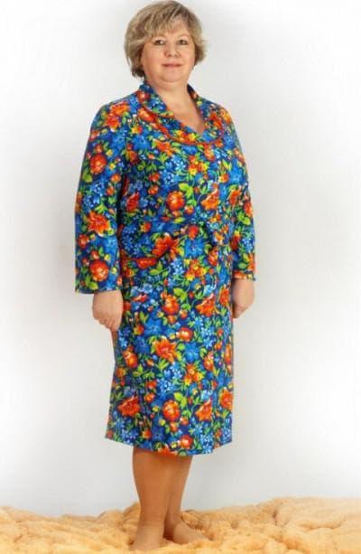 платья-халаты для взрослых женщин