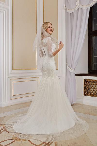 свадебного платья рыбка со шлейфом от Robe Blanche