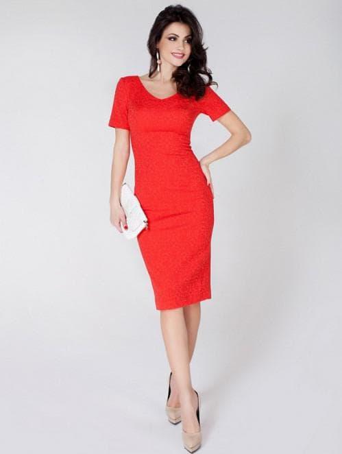 красное платье от Olga Skazkina