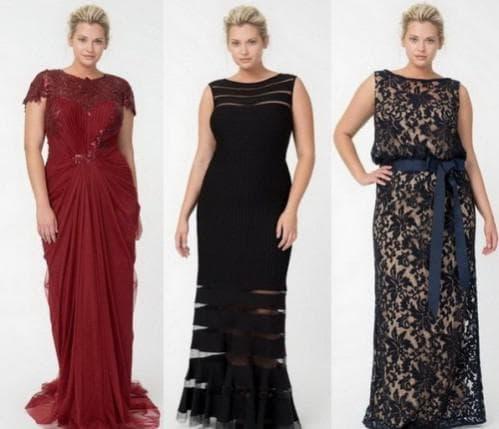 платья-годе для полных