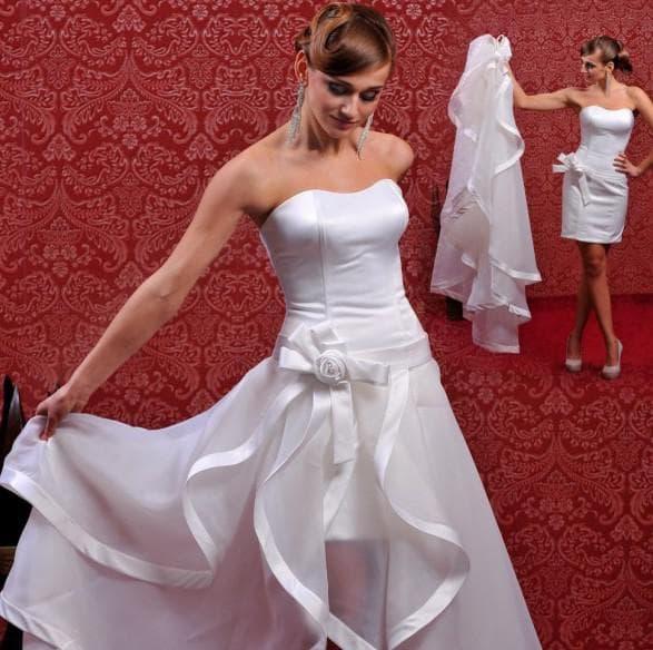 свадебное платье трансформер модели с отстегивающимся шлейфом