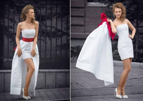 свадебное платье трансформер с накладной юбкой