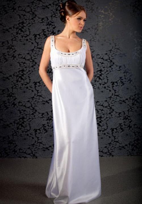 вечерние летние платья на свадьбу «ампир»