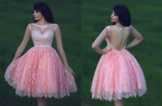 короткое бальное платье на выпускной