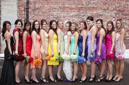 яркие цвета на свадьбу