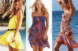 летнее платье в полоску для полной женщины