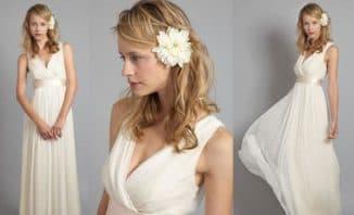 белые платья в пол в греческом стиле