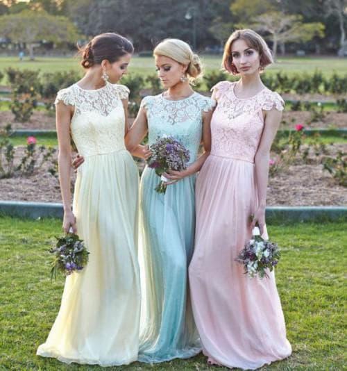 длинное платье на свадьбу подруги