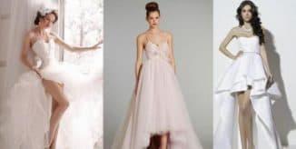 свадебные платья спереди короткое сзади длинное