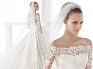 свадебное платье кружевной верх атласный низ