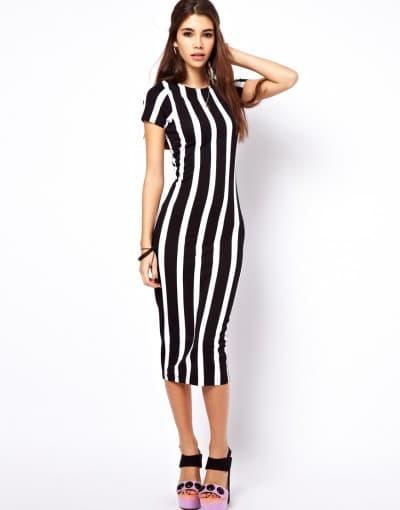 платье для фигуры прямоугольник с вертикальными линии на уровне талии