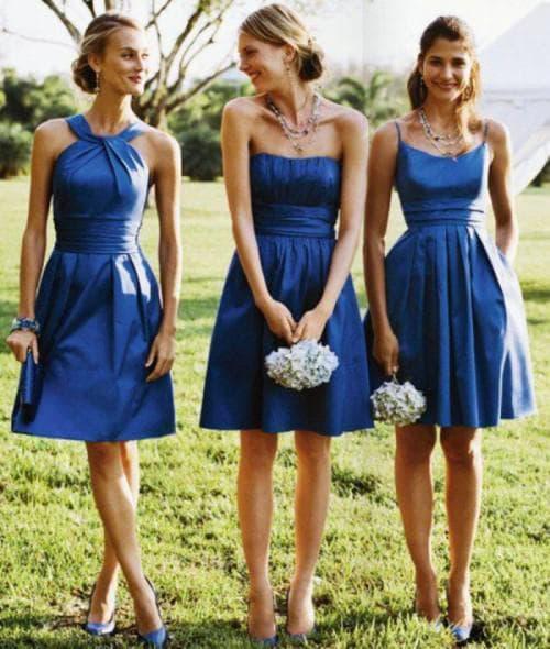 короткие платье на свадьбу подруги