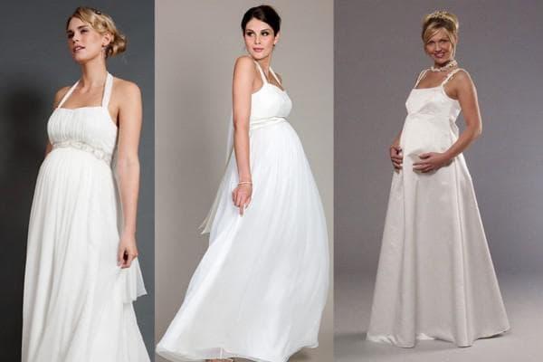 платье для беременных на поздних сроках на свадьбу