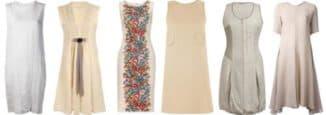 летнее платье из льна для полных