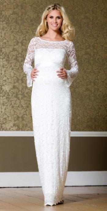 платья с рукавами для беременных на свадьбу