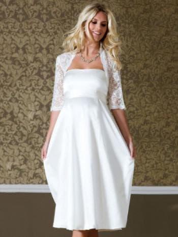 платья с кружевами для беременных на свадьбу
