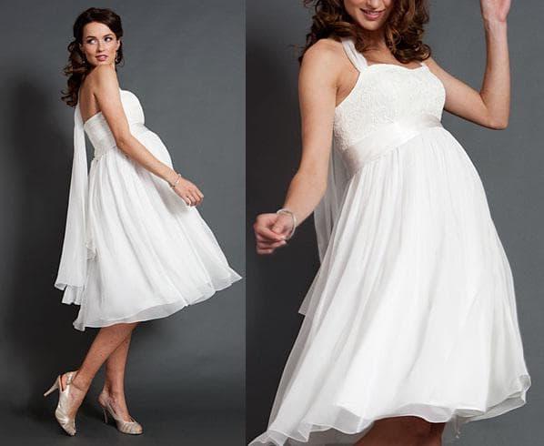 белое платье для беременной