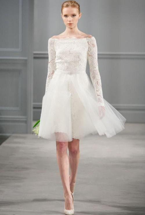 вечерние летние платья на свадьбу Monique Lhuillier
