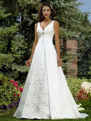 свадебное платье как перевёрнутый треугольник