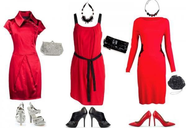украшения на красное платье