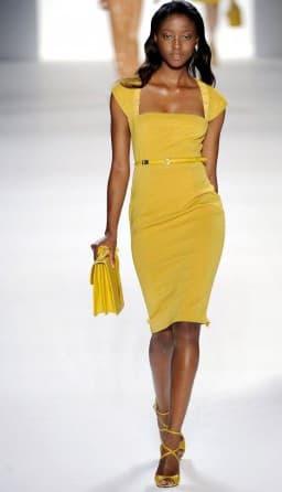 летнее деловое платье футляр