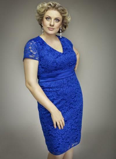 вечерние платье футляр с V образным вырезом большого размера