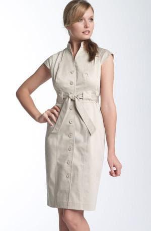 летнее деловое платье рубашка