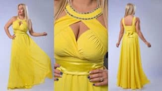 модели шифоновых платьев для полных