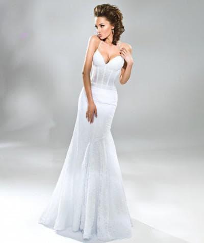 свадебное платье от anna bogdan платье-рыбка