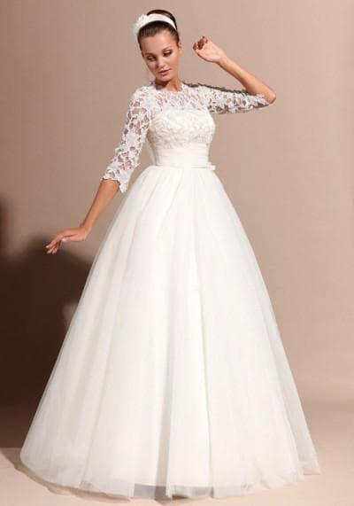 свадебные платья с пышными кружевами сверху