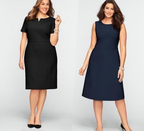 офисные летние платья для полных