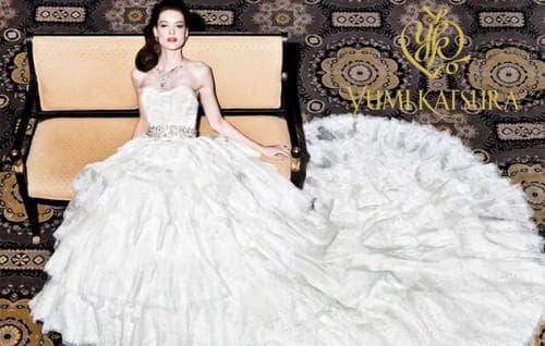 красивое свадебное платье в мире от Юми Кацура