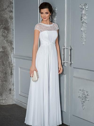 греческое свадебное платье с кружевами сверху