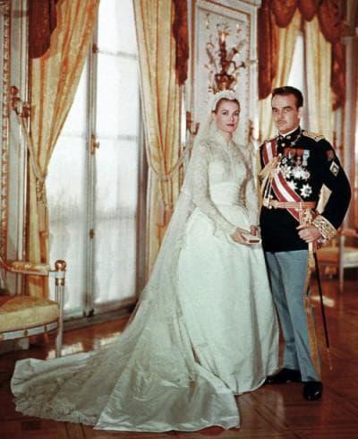 платье Грей Келли для венчания с князем Монако Ренье III