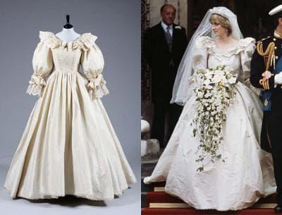 платье принцессы Дианы цвета слоновой кости