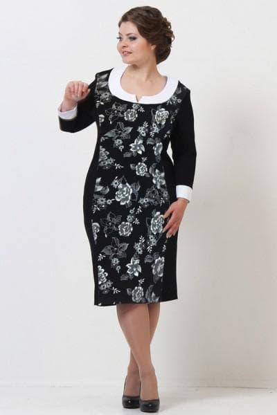 элегантные платья для полных из льна