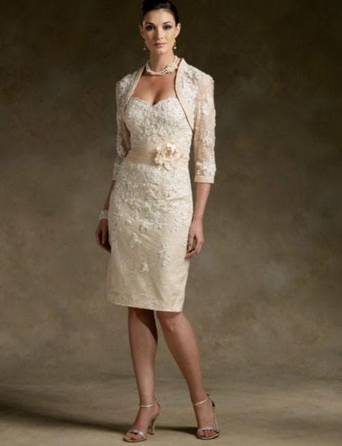 платье с болерошкой для мамы невесты