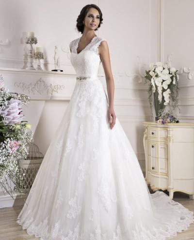 свадебное платье силуэт а