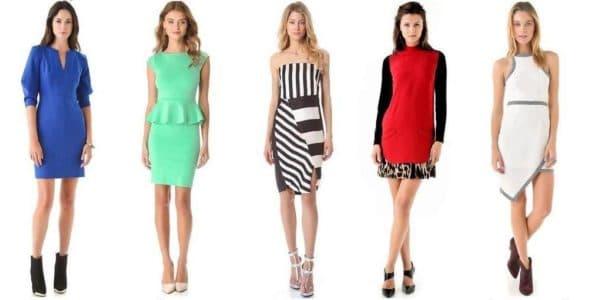 платья для фигуры прямоугольник
