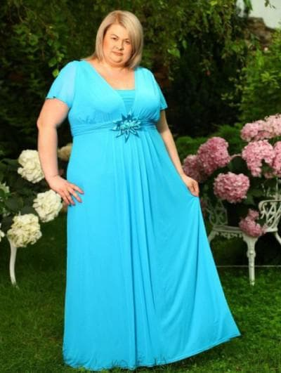 вечерние платья из льна на торжество для полных