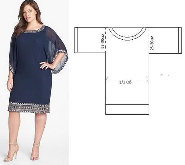 платье прямого кроя для взрослой женщины