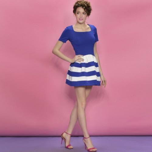 мини платье А силуэта