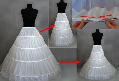 красное платье с кринолином под юбкой в белый горошек для девочки