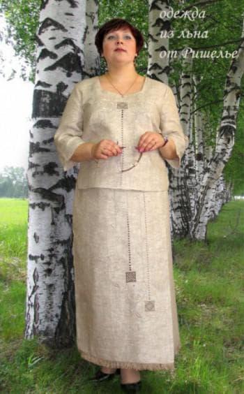 платья из льна для полных от Ришелье