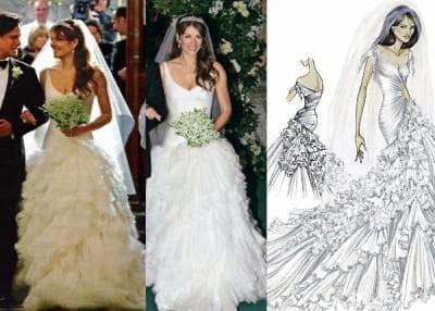 классическое платье Элизабет Херли с роскошной юбкой