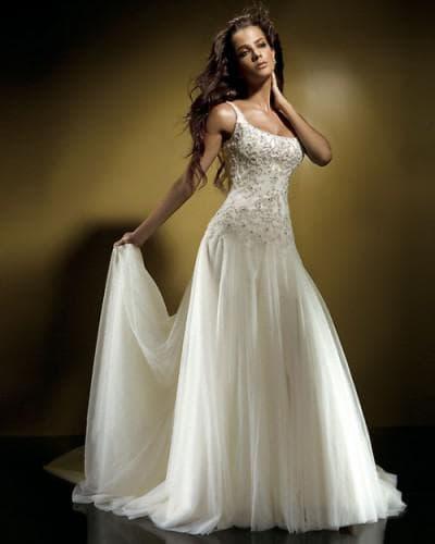 свадебное платье песочные часы
